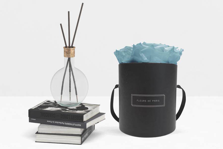 Fleurs de Paris Rund Schwarz Small Aquamarine