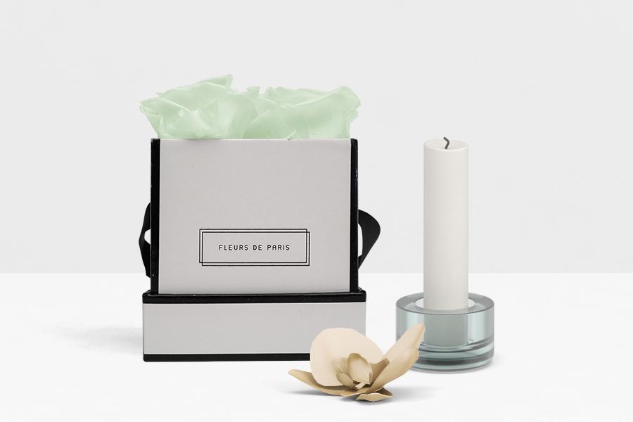Fleurs de Paris Eckig Weiß Minty Small Green