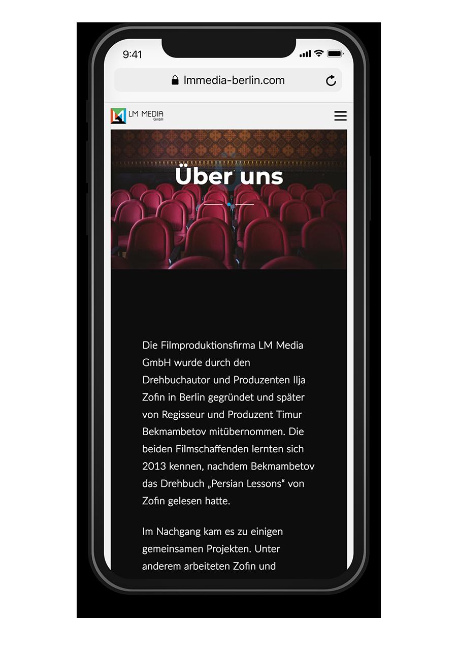 LM Media Berlin - Über uns - Mobile