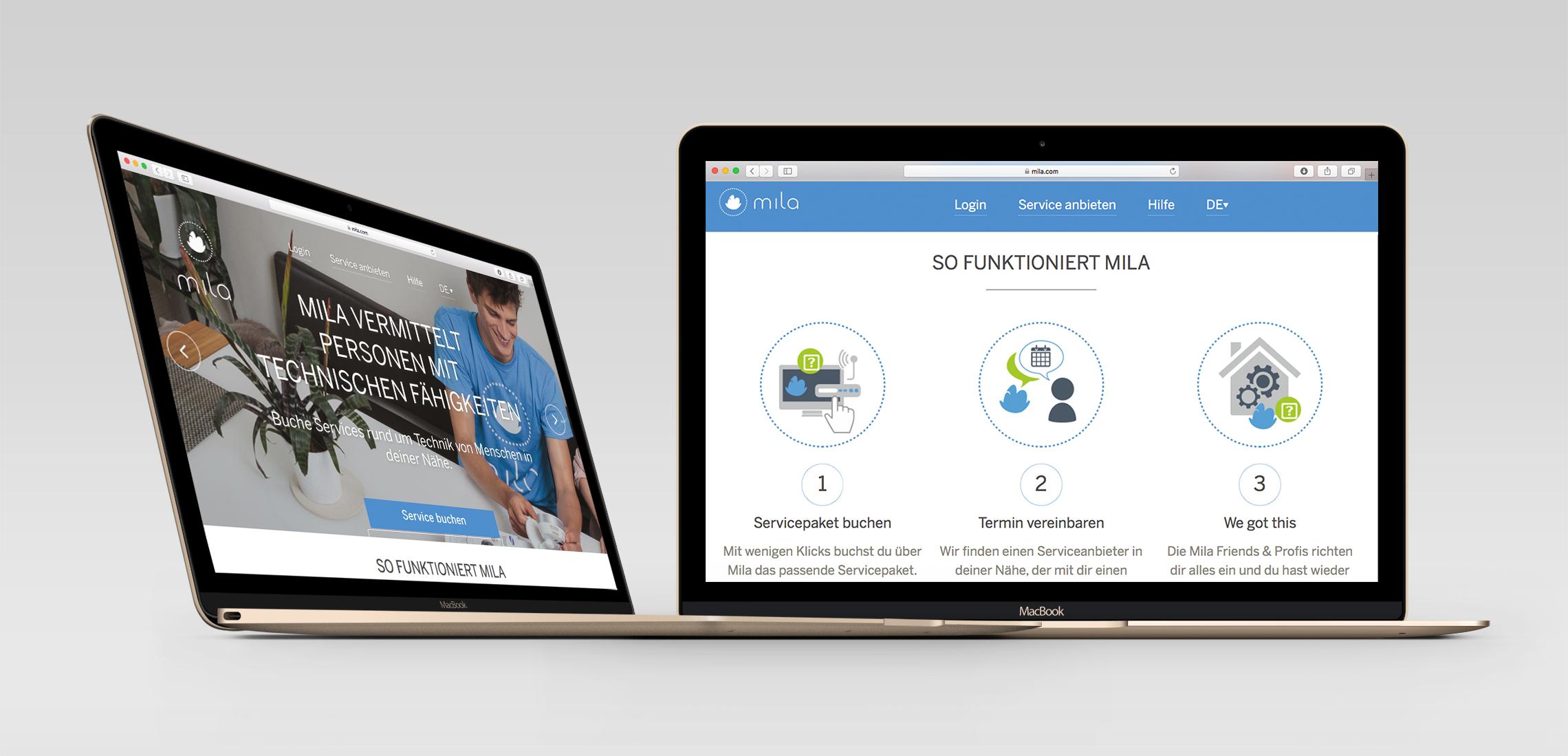Mila Homepage Desktop