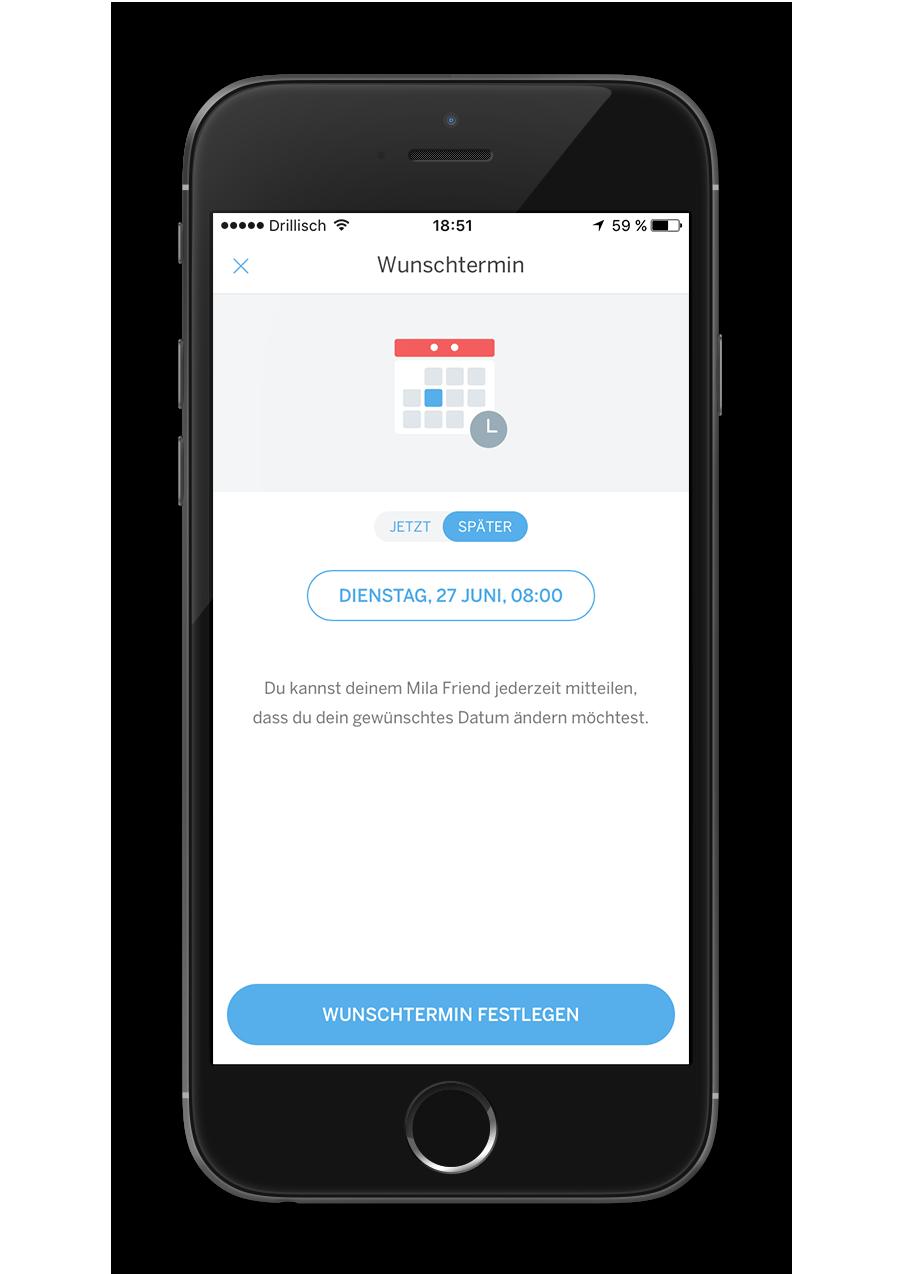 Mila - Native App - Wunschtermin