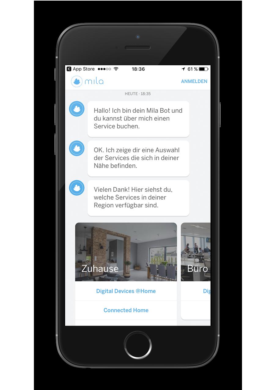Mila - Native App - Chatbot