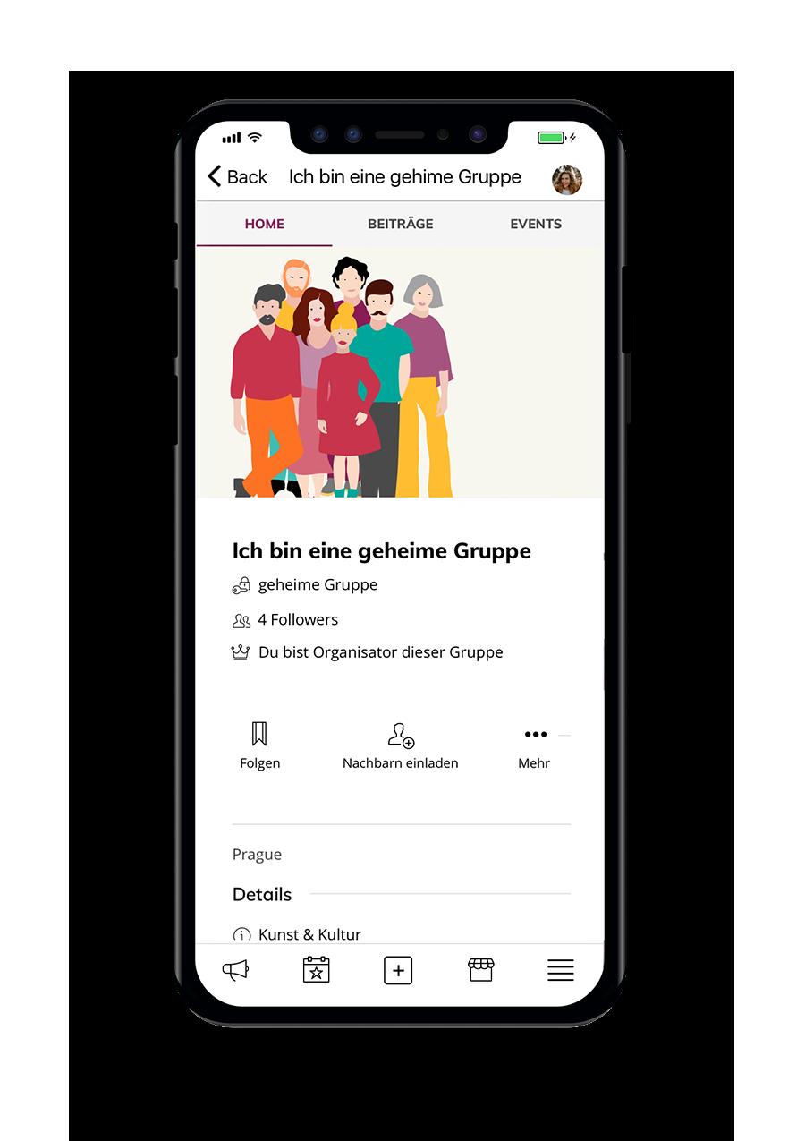 Wir von Hier - Native App - Gruppe