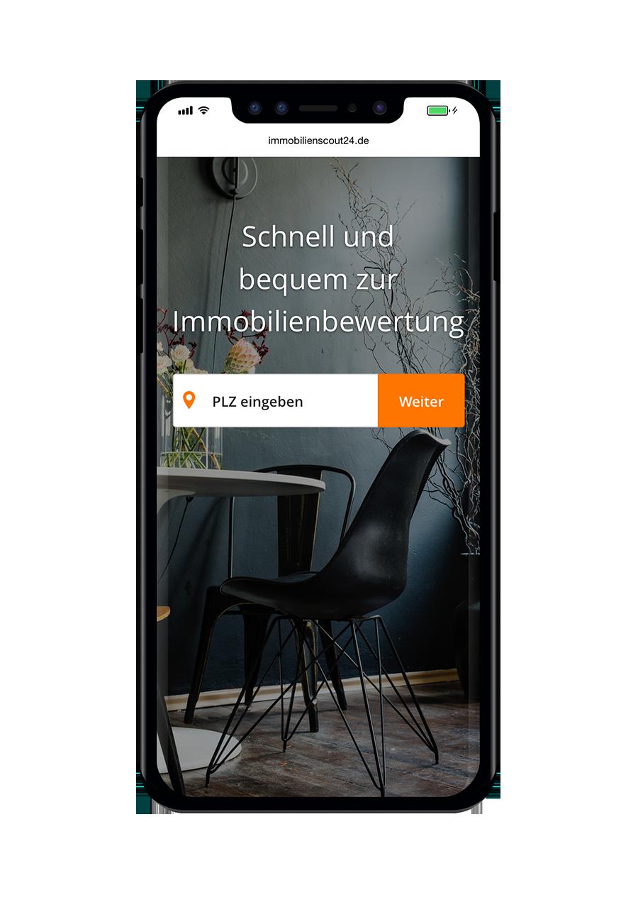ImmobilienScout24 Immobilienbewertung PLZ Mobile