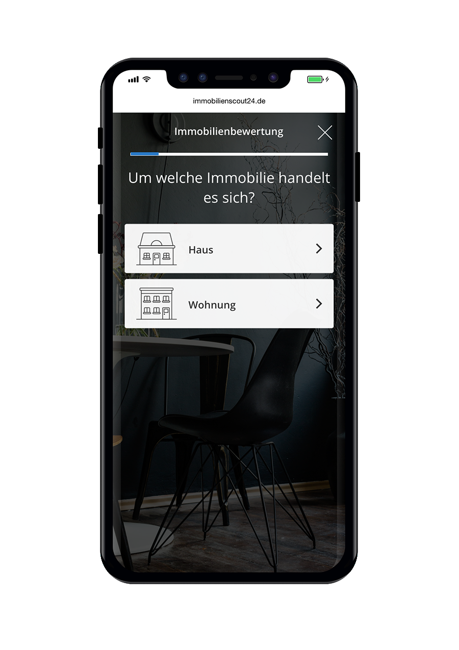 ImmobilienScout24 Immobilienbewertung Immobilientyp Mobile