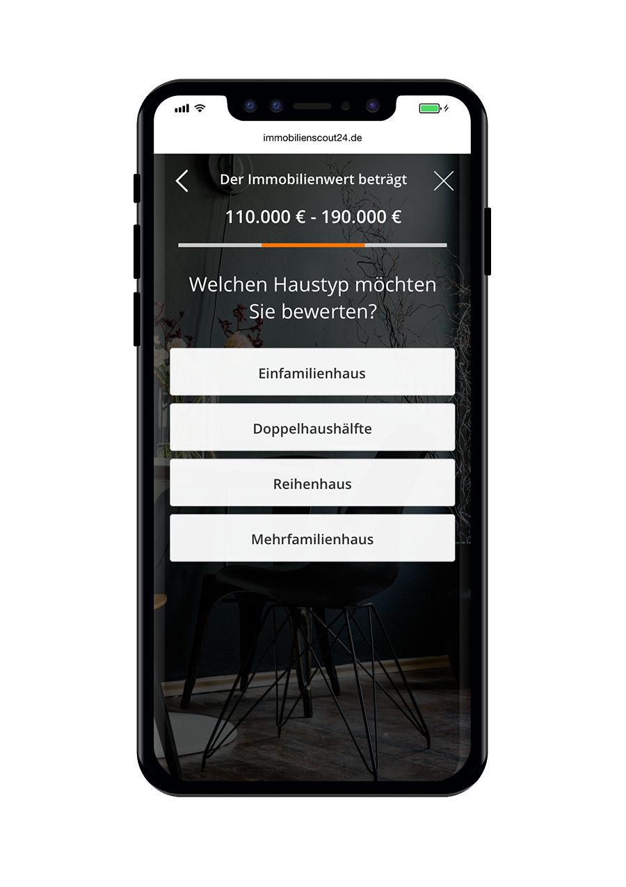Immobilienscout24 Immobilienbewertung Haustyp Mobile