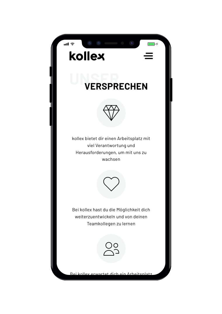 kollex Mobile - Unser Versprechen